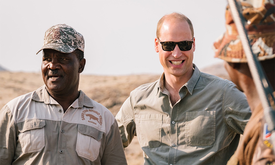 It was a great visit to the Kunene region for Prince William, who appeared to be enjoying himself immensely while clad in his safari shirt and sunglasses.