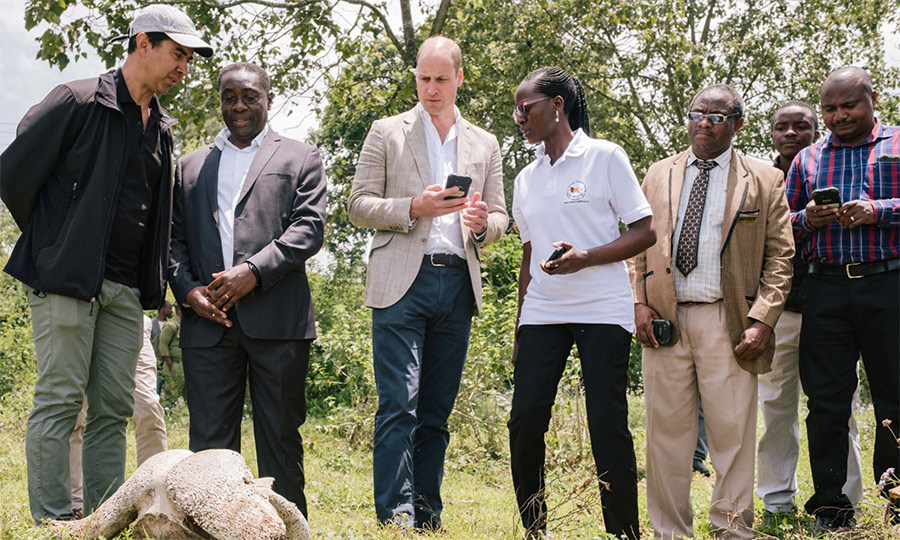 William tried out some new SMART technology at the college, which is used to track the behaviour of wildlife and poachers.