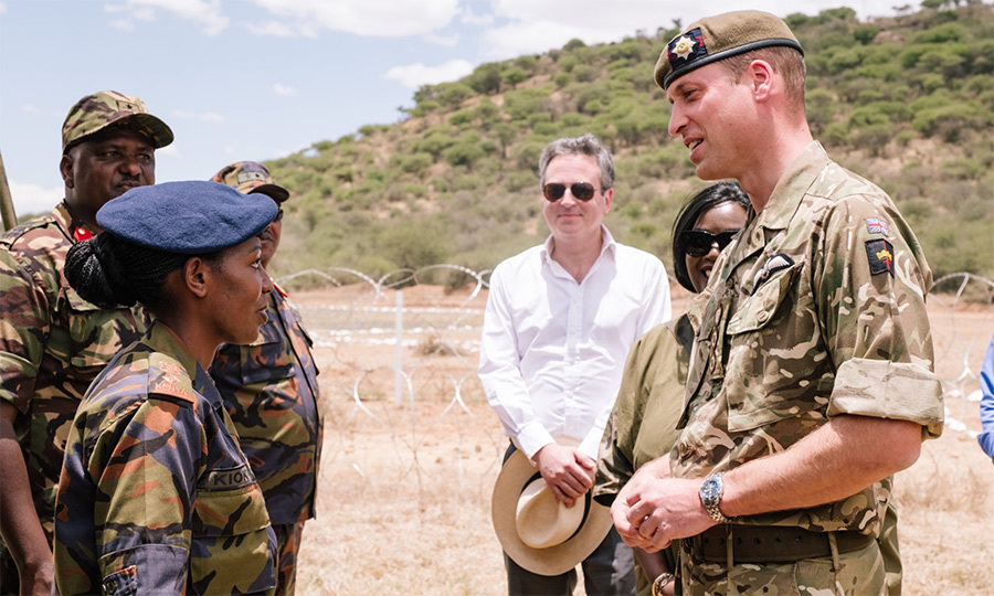 The duke met with Kenyan Defence Forces soldiers.