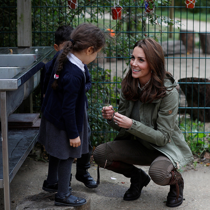 The Duchess of Cambridge showed off her natural charm with children.