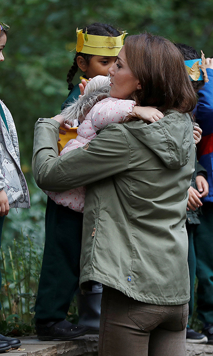 She gave her a big hug as she left!