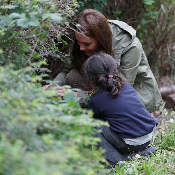 "Kate didn't waste time getting involved in the students' activities, including hunting for bugs and ""mini beasts""!