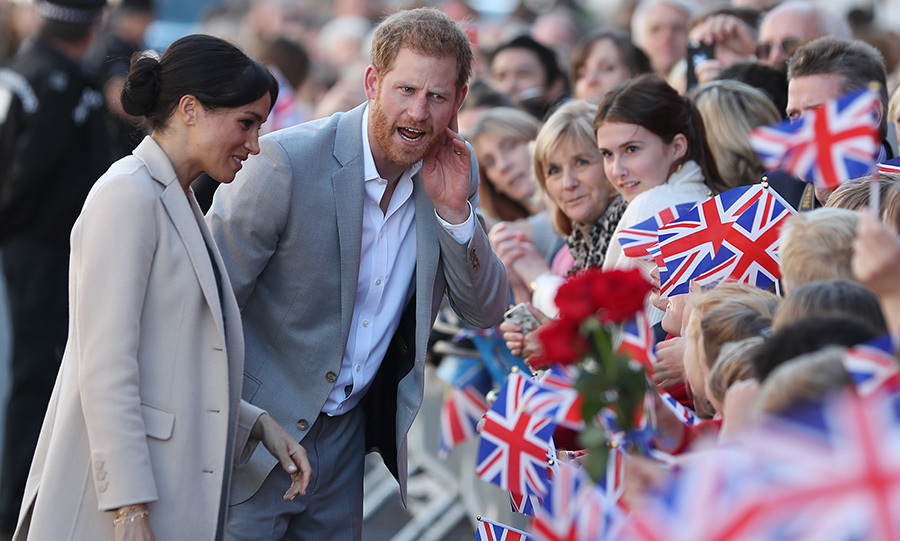 Charming Prince Harry joked around with well-wishers in the crowds outside Edes House, where the couple admired the Sussex Declaration.