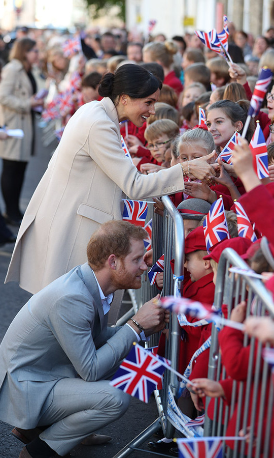 """I love Meghan so much I named my chicken after her,"" said 10-year-old Honor Pennant from Hampshire, who brought a bouquet of rosemary and white dahlias from her garden. ""I like Meghan (the duchess) because I think she is quite spritely. I hope I can give her the flowers and tell her about my chicken."" The chicken's breed is, interestingly, Light Sussex.