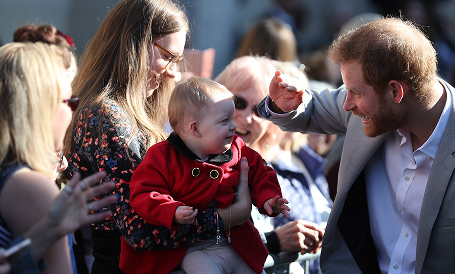 The uncle to Prince George, Princess Chalotte and Prince Louis adorably shielded this precious baby's eyes from the sun.
