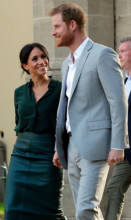 While Meghan and Harry made their county of Sussex debut together on Oct. 3, they shared some pretty sweet moments together. The duchess looked up at her husband while holding his hand.