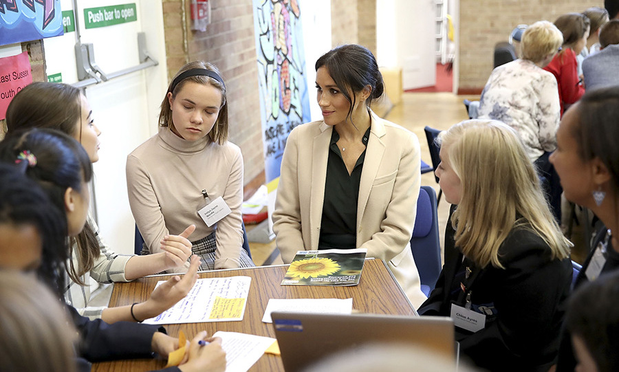 Meghan was also all ears during the breakout sessions at the Joff Youth Centre.