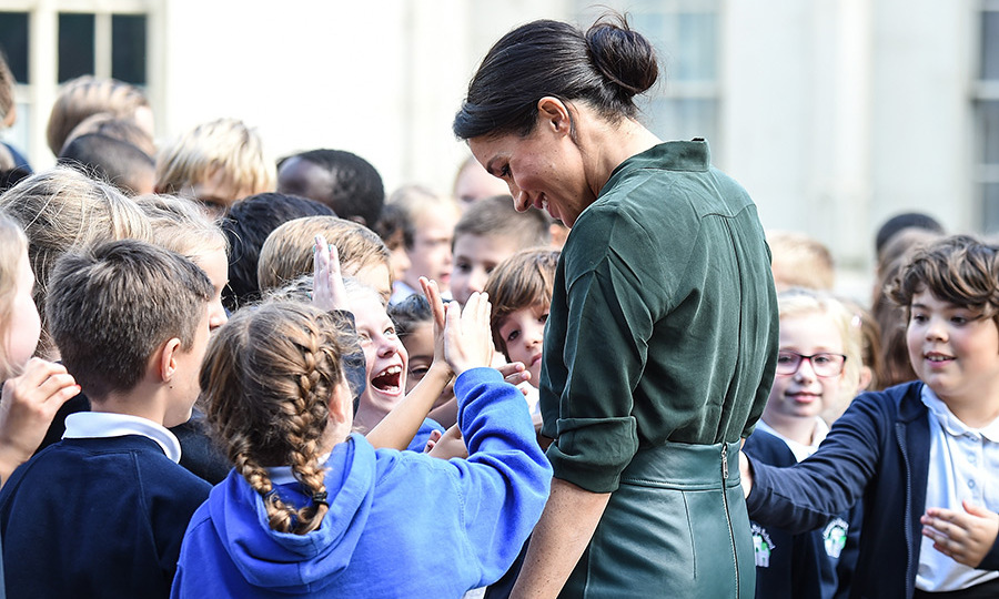 The duchess told the students that her favourite subject in school was math.