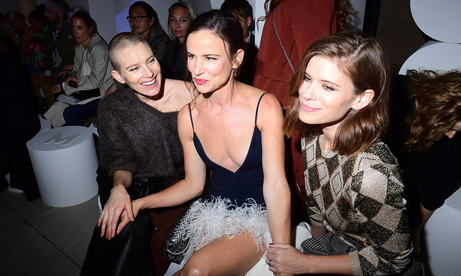 #GirlSquad! Dree Hemingway, Juliette Lewis and Kate Mara sat front row together for the Miu Miu show.