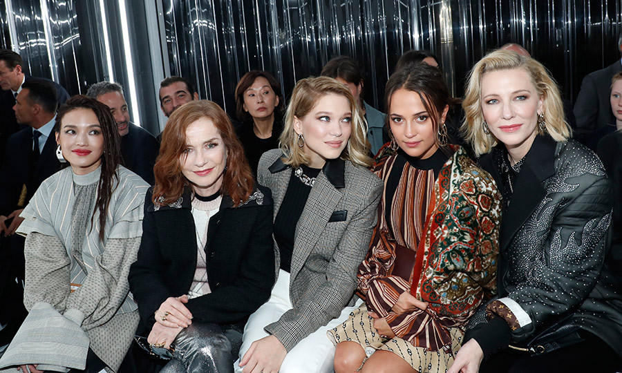 Actresses Shu Qi, Isabelle Huppert, Lea Seydoux, Alicia Vikander and Cate Blanchett were the picture of front row elegance at Louis Vuitton.