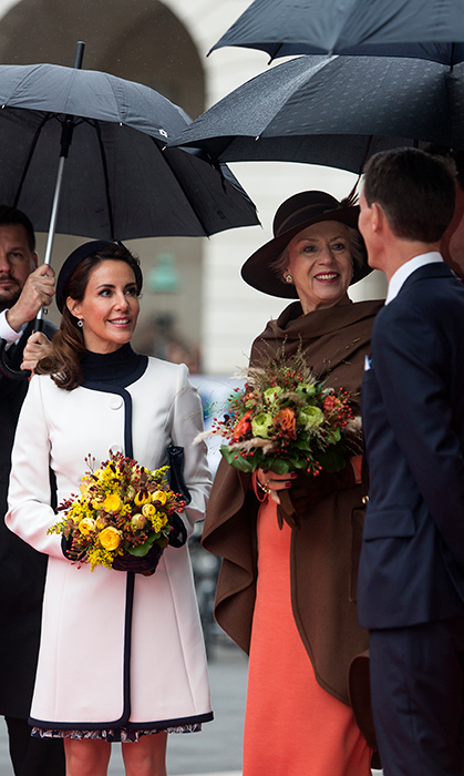 Prince Joachim of Denmark, his wife Princess Marie and Princess Benedikt arrived to Parliament for its opening.