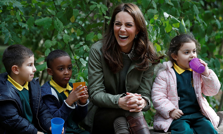 For the Duchess of Cambridge's first royal outing back from maternity leave, she paid a visit to the Sayers Croft Forest School and Wildlife Garden. The school provides inner-city kids with the opportunity to get a breath of fresh air and learn about nature.