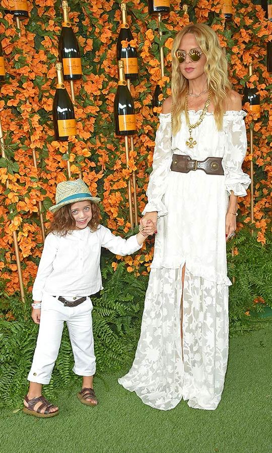 Rachel Zoe and her son Kaius