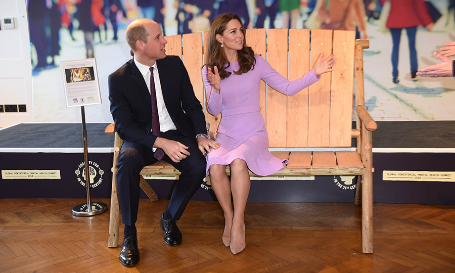 The couple took a seat on a Zimbabwean Friendship Bench while at the event, an innovative creation that has helped 