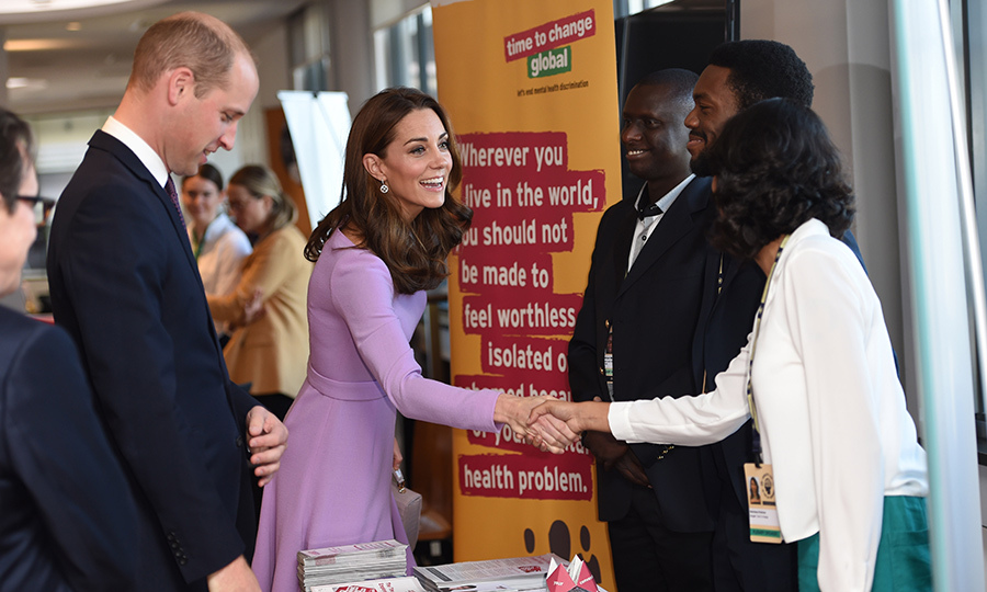 Kate and William graciously met with officials at the event.