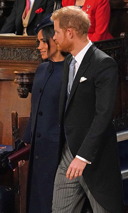 Prince Harry and Meghan might have felt a case of déjà vu as they strolled into St. George's chapel, where just five months ago they pledged their love to each other in front of family and friends. 