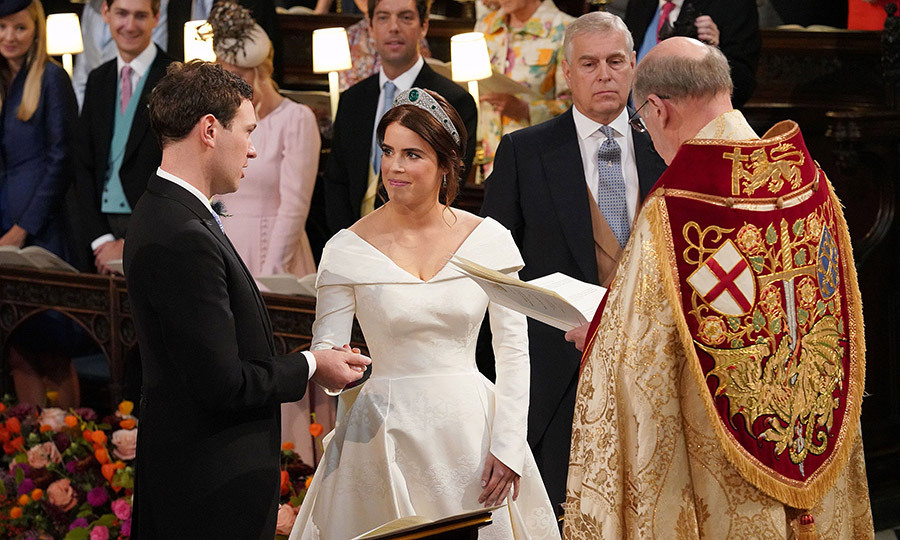 The couple pledged their love for one another while exchanging vows. Eugenie followed in the footsteps of the Duchess of Cambridge and the Duchess of Sussex and left a pledge to obey her husband out of her vows. 