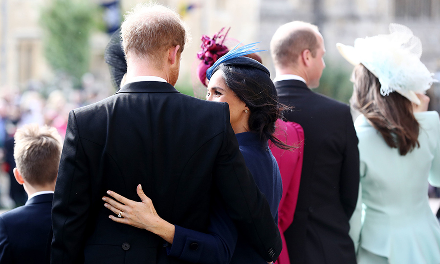 Following the service, the Duke and Duchess of Sussex shared a sweet hug while waiting to see the newlyweds off. The ceremony likely brought back happy memories for the pair, who were married at St. George's Chapel in May. 