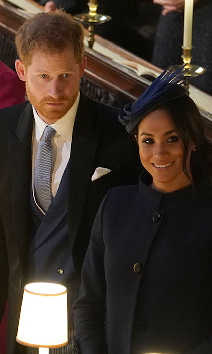 The Duke and Duchess of Sussex colour coordinated their wedding attire, with Harry matching his waistcoat to his wife's Givenchy coatdress. 