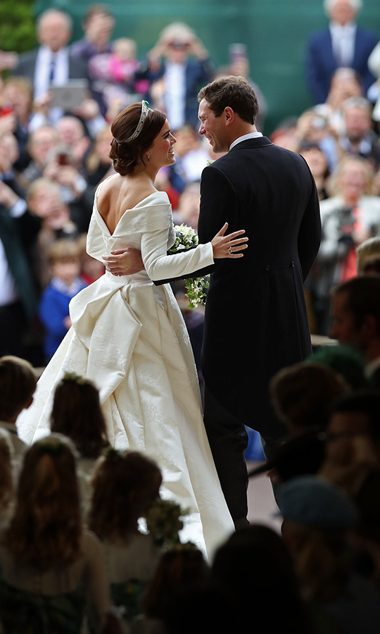 "<a href=""/tags/0/princess-eugenie/"">Princess Eugenie</a> and <a href=""/tags/0/jack-brooksbank /"">Jack Brooksbank</a> tied the knot in a spectacular royal wedding at St George's Chapel in Windsor on Oct. 12, and while they followed many special traditions – from her Welsh gold wedding band and deep curtsy to the Queen to their carriage ride through Windsor – the couple also made their big day their own by bucking a few royal trends. <strong>Click through to see them all…</strong>