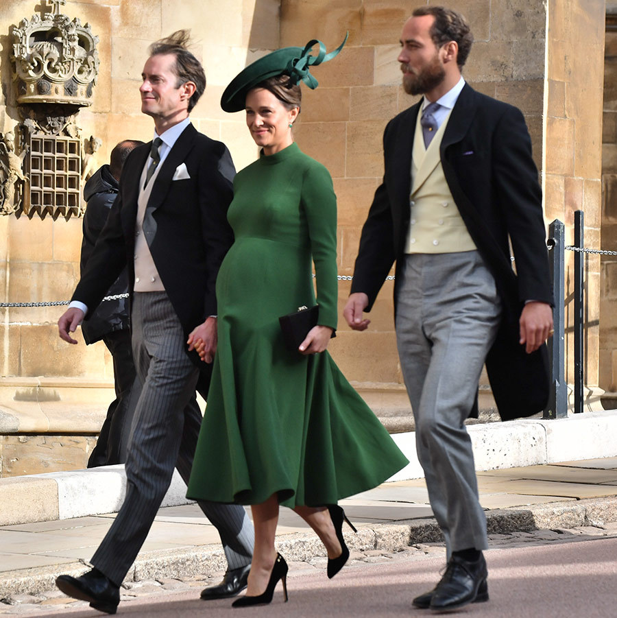 Pippa Middleton surprised fans by attending Princess Eugenie's wedding just days before giving birth.
