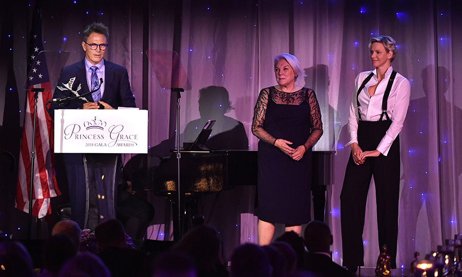 Princess Charlene looked on happily as actor/director Tim Daly accepted the Prince Rainier III Award at the Princess Grace Awards in New York on Oct. 16. His actress mom Tyne Daly was also beaming with pride alongside the royal mother of two.