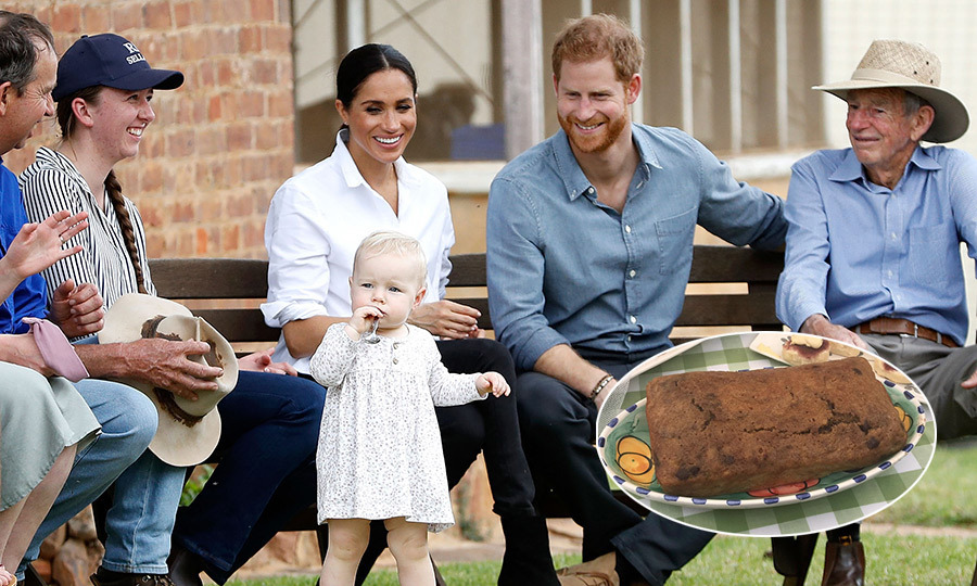 Ever the gracious guest, Meghan popped into the kitchen at Admiralty House to bake banana bread ahead of her visit to the Woodley family's farm in Dubbo. Alongside the chocolate chip and ginger-studded loaf she brought a tin of 'Royal Blend' Fortnum and Mason tea.