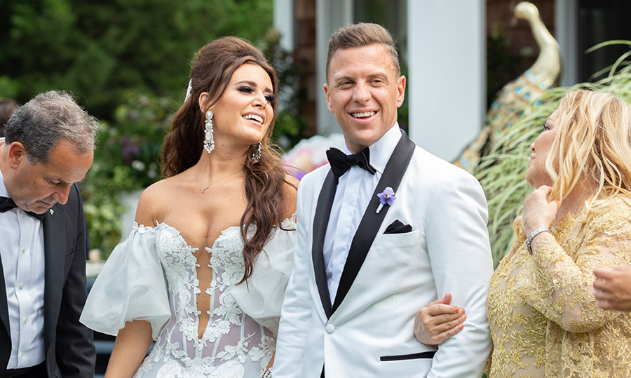 The Canadian stylist made jaws drop in her Ines Di Santo wedding gown. Nick looked dapper as ever in a Garrison Bespoke suit. The two were passionate about making their wedding day feel as private and intimate as possible while still wowing guests with the kind of over-the-top details one might expect from the only daughter of an influential family.