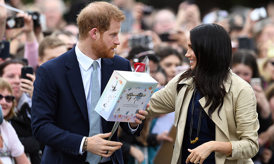 Prince Harry and Meghan also received one of Australia's best-selling children's books, <em>Possum Magic</em>, in a box set that includes the book and a possum stuffed toy named Hush. This is going to be one well-read royal baby!