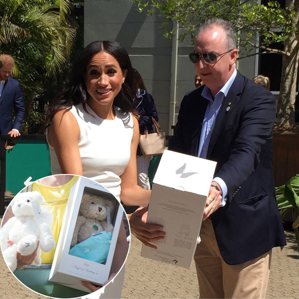 Baby Sussex is going to enter the world already spoiled by his adoring fans, one of whom gave the future royal baby an Enchanting Angels bear, which the Australian brand sells starting from $120.