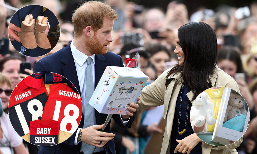 "The <a href=""https://ca.hellomagazine.com/tags/0/prince-harry-and-meghan""><strong>Duke and Duchess of Sussex</strong></a> kicked off their first overseas tour with a bang – by <a href=""https://ca.hellomagazine.com/royalty/02018101547907/prince-harry-meghan-markle-pregnant""><strong>announcing their pregnancy</strong></a>! And now that their admirers know Baby Sussex is on the way (spring 2019, mark your calendars!), they've been receiving the sweetest baby gifts everywhere they go. From a pair of adorable little UGG boots to football gear from Melbourne Football Club to best-selling children's books, this is going to be one stylish, well-read and comfortable baby.