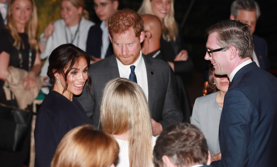 "Before taking their seats to enjoy the wonderful opening ceremony, the Duke and Duchess of Sussex were at a reception to welcome the Games to Sydney. The Premier of New South wales played host for the evening at Bennelong Restaurant, inside the Sydney Opera House. ""I was a bit worried. Thankfully, it looks like the sky is clearing now,"" he said about the weather and the event's delay.