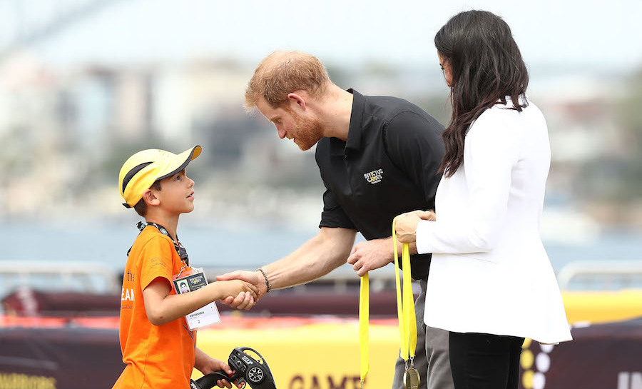 One winner looked pretty starstruck to be meeting the Prince of England!