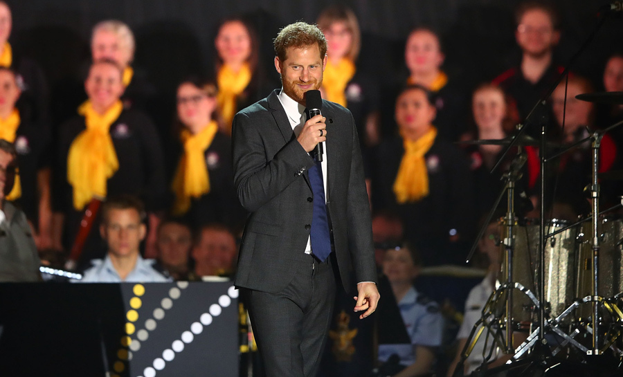 "Prince Harry just couldn't help but mention future Baby Sussex during his Invictus Games opening ceremony speech! ""First of all, thank you for the welcome you have given Meghan and I over the last few days,"" he gushed. ""I have been so proud to be able to introduce my wife to you and we have been so happy to be able to celebrate the personal joy of our newest addition with you all.""