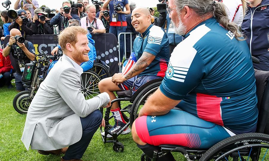 The duke always enjoys getting to know some of the 500 competitors from 18 countries who battle it out in events like cycling, sailing, wheelchair rugby, archery, wheelchair tennis and more. 