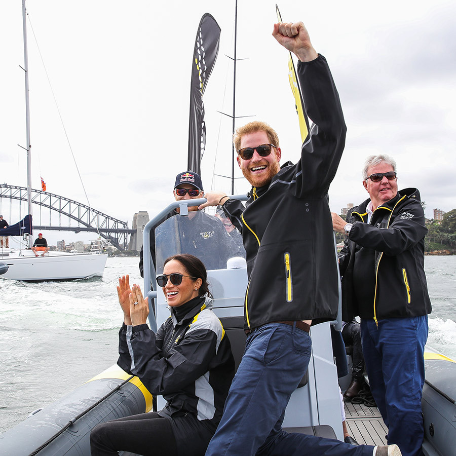 Prince Harry couldn't contain his excitement watching the sailing teams from a variety of countries compete with Sydney Harbour as the backdrop!