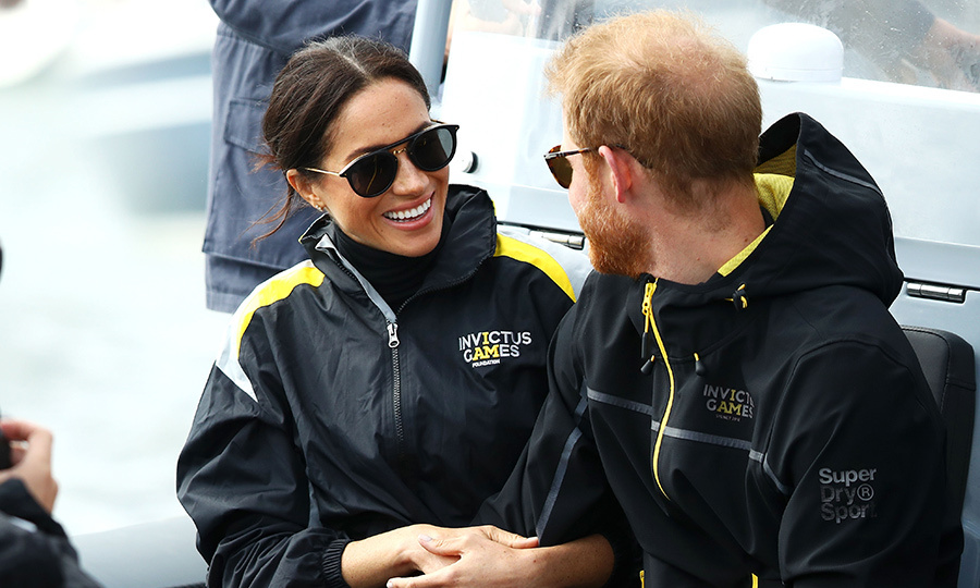 They only had eyes for each other while watching the Invictus sailing event on a boat in Sydney Harbour!