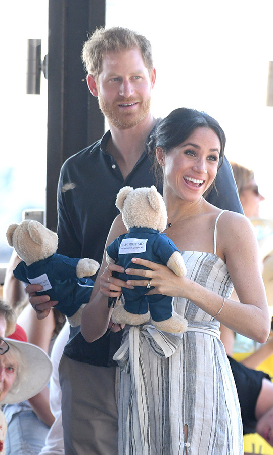 Among the many gifts the couple received were these adorable bears.