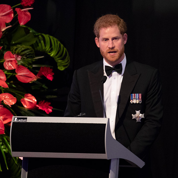 """All over the world Fiji is renowned for its incredible natural beauty and hospitality,"" Prince Harry said in his speech. ""We, as a couple, feel very lucky to be spending part of our tour as your guests."" The President of Fiji also gave an address, paying an emotional tribute to the royal's late mom, Princess Diana, who he said would be ""proud of the man"" he has become and the happiness he's found with Meghan.
