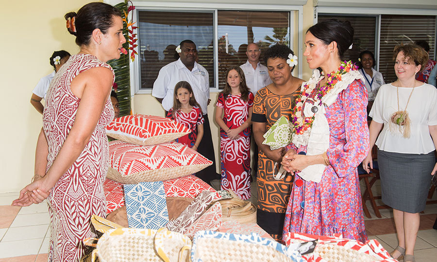 Meghan spoke to Temalesi Vere, 44, whose beautiful baskets and bags helped her reclaim her life after her village was destroyed by cyclone Winston in 2016.