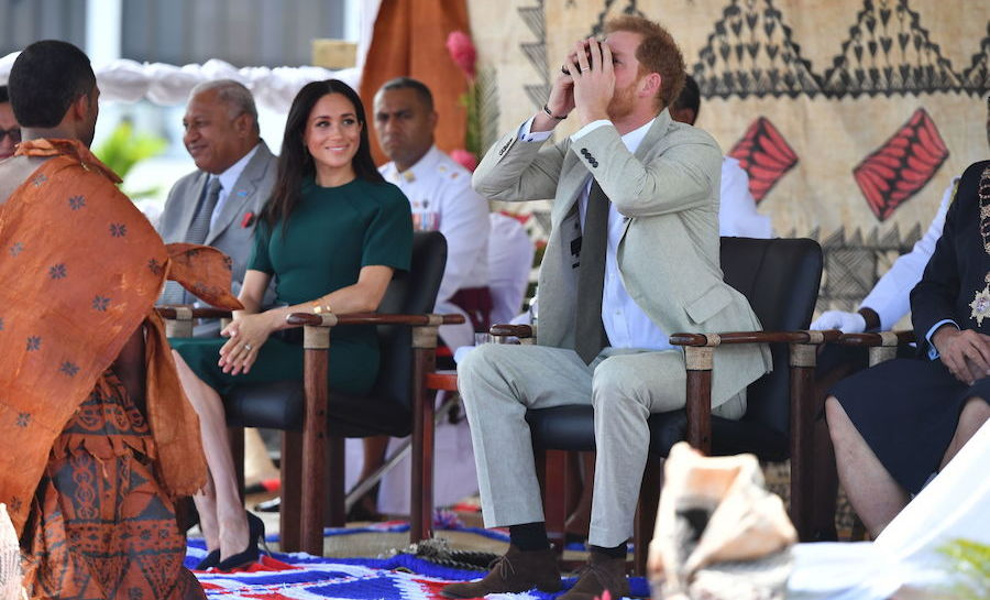 During the ceremony, Prince Harry took a sip from his bowl of ceremonial kava.