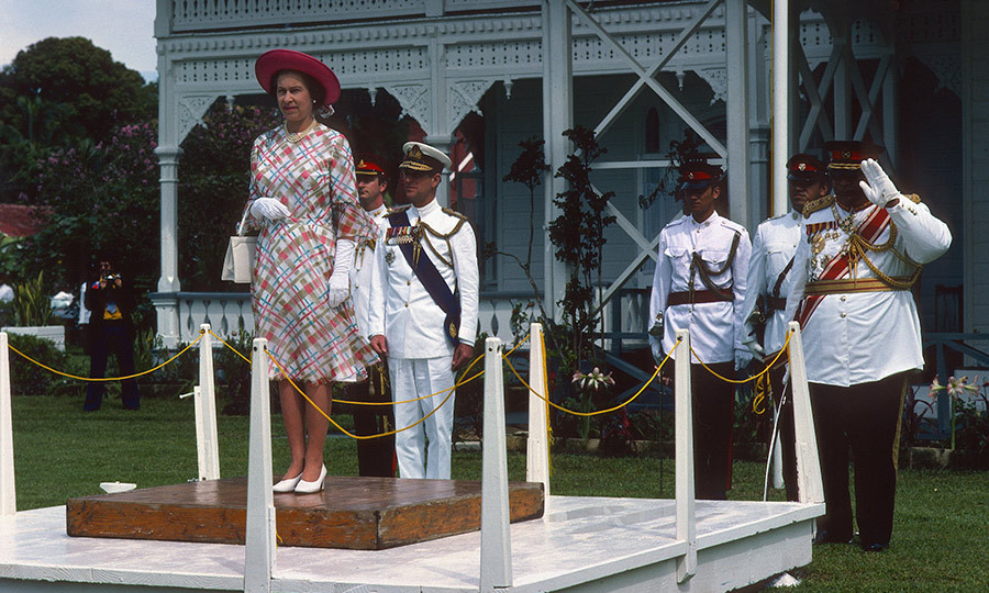 In 1977, the Queen and Prince Philip were officially welcomed to the Polynesian kingdom by King Taufa'ahau Tupou IV, with Elizabeth perched on a dais. Tonga became independent in 1970 but remains a Commonwealth country to this day.