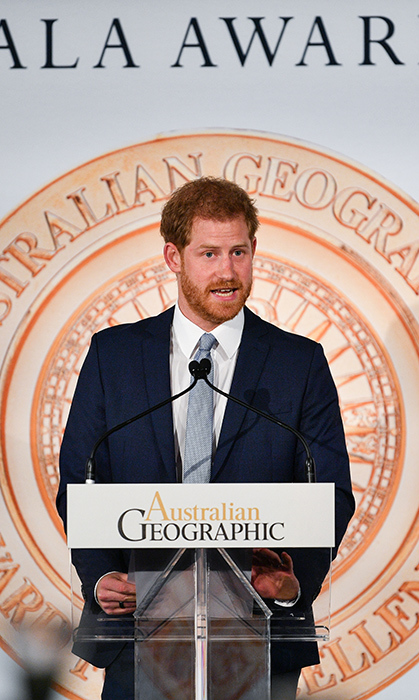 The Duke of Sussex welcomed Jade to the stage to receive her award with a short speech.