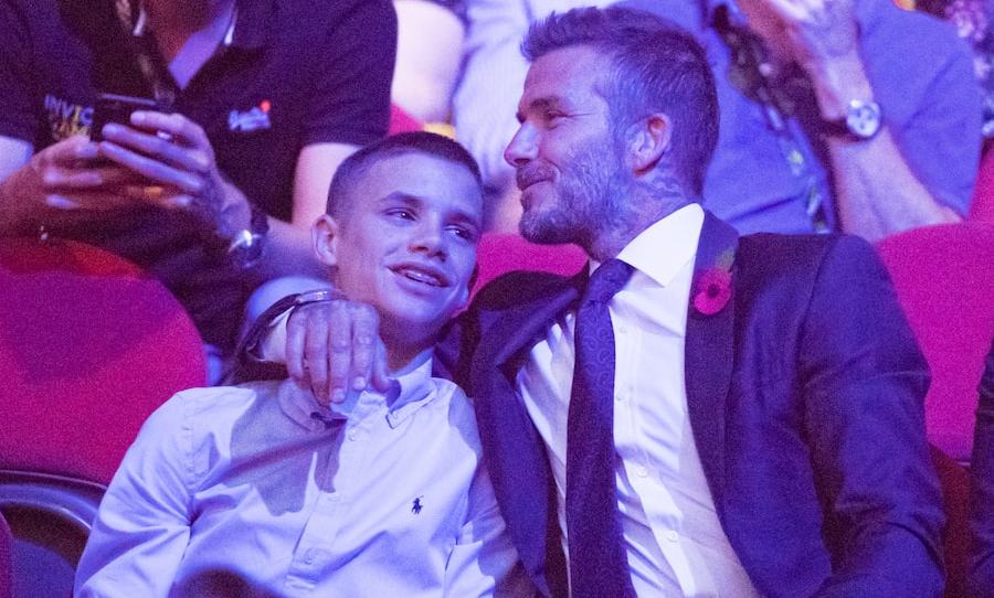 David Beckham shared a loving moment with is 16-year-old son, Romeo Beckham. Part of the family was in town to support their friends in Australia!