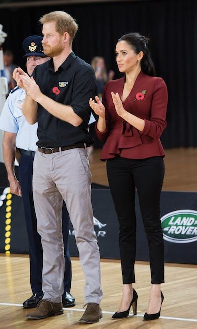 Earlier that day, the Sussexes attended a wheelchair basketball finals at the Quay Centre in Sydney – the United States played against the Netherlands.