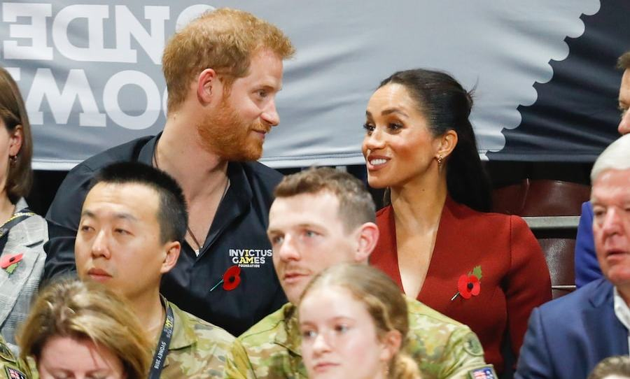 The couple looked to be enjoying themselves at the wheelchair basketball game. Prince Harry was also spotted pointing things out to Meghan, perhaps explaining the game to her.