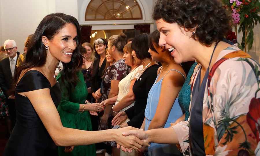 The duchess met guests at the reception, which was hosted by Governor-General Patsy Reddy and attended by Prime Minister Jacinda Ardern as well as leader of the opposition Simon Bridges.