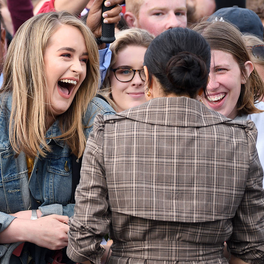 Young fans were delighted to meet the former actress! The couple's reception during the tour has been compared to Beatlemania!