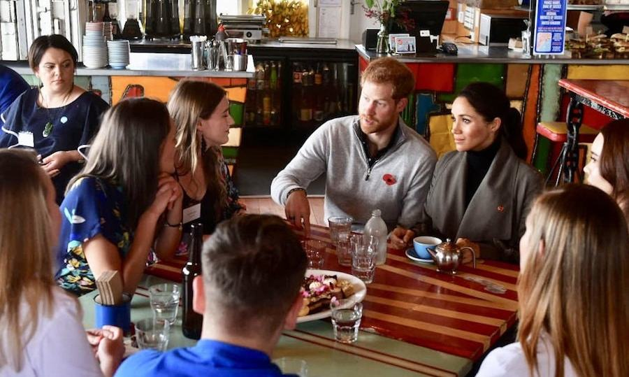 Those at the casual meeting included volunteers of Voices for Hope, an organization helping to break stigma around mental health.