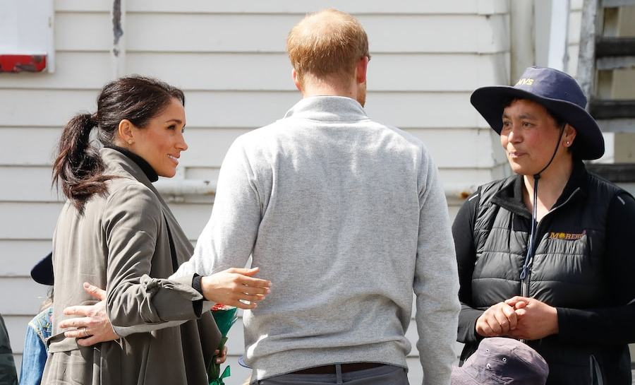Prince Harry and Meghan spoke to fans while visiting Maranui Cafe.